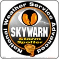 "8"" x 8"" SKYWARN Advanced Storm Spotter Magnetic Sign ~ Stylized Reflective"