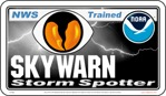 "12"" x 7"" SKYWARN / NOAA Storm Spotter Magnetic Sign ~ Stylized Reflective."