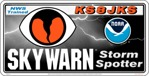 "24"" x 12"" Personalized ~ SKYWARN Storm Spotter Magnetic Reflective sign"